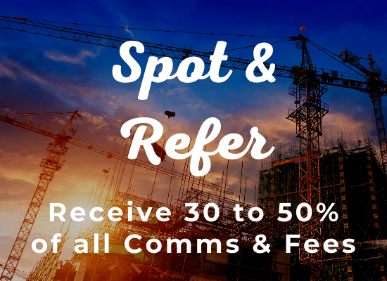Spot & Refer - 50/50 Split on Comms & Fees