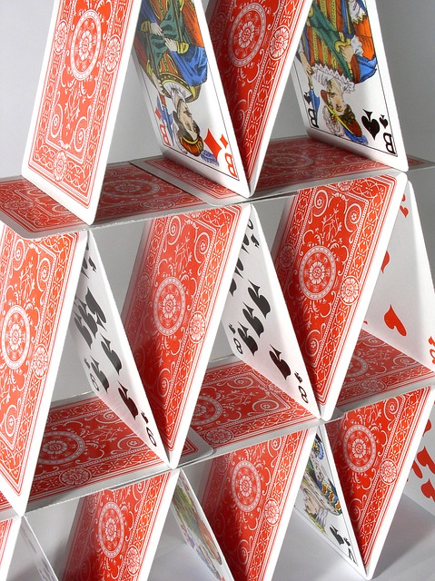 House Stac of playing cards