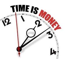 Time is money clockface